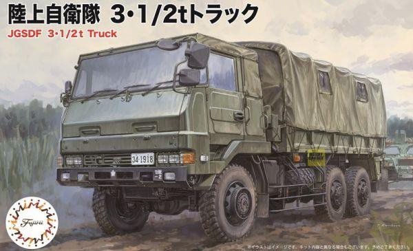 1/72 三噸半 軍卡 兩輛套組 FUJIMI Mi22 陸上自衛隊 富士美 組裝模型 FUJIMI,1/72,mi,陸上自衛隊,10式戰車,三噸半,軍卡,