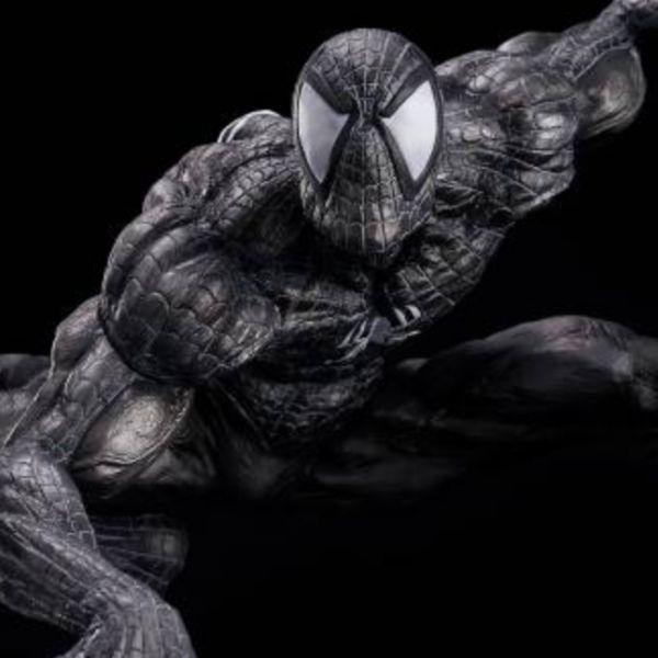 千值練 SOFT VINYL 黑裝蜘蛛人 漫威 MARVEL sofbinal Spiderman 雕像 千值練,SOFT VINYL,漫威,MARVEL,sofbinal Spiderman,黑裝蜘蛛人,雕像