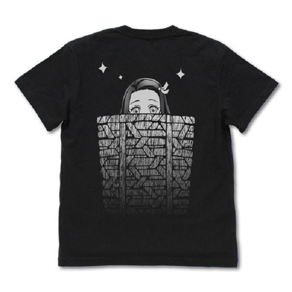 COSPA 鬼滅之刃 竹簍裡的禰豆子 短袖T恤 黑色 COSPA,鬼滅之刃,竹簍,禰豆子