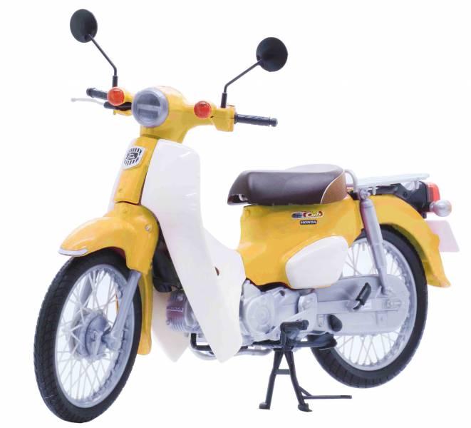 1/12 HONDA Super CUB 黃色 FUJIMI BikeNX1EX5 富士美 組裝模型 FUJIMI,1/12,NEXT,HONDA,Super,CUB,110,金屬藍,白色,,黃色,,