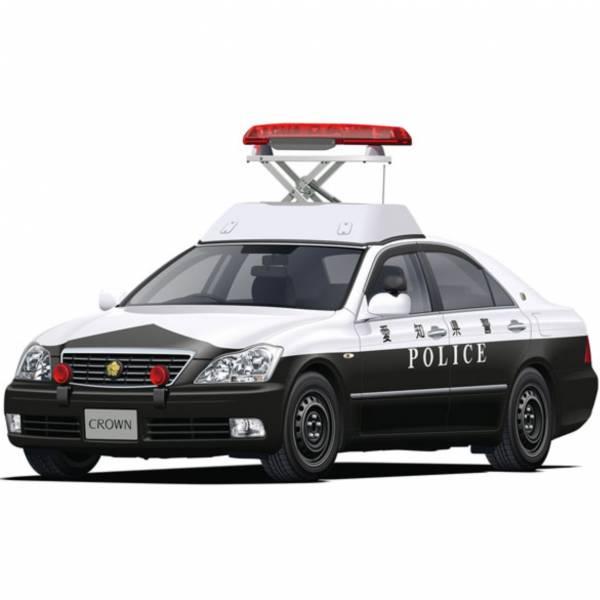 AOSHIMA 青島 1/24 巡邏車 #7 豐田皇冠GRS180 警用'05 組裝模型 AOSHIMA,青島,1/24,巡邏車,#7,豐田皇冠,GRS180,警用'05,組裝模型,