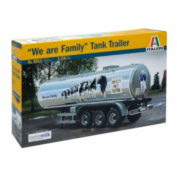 ITALERI 義大利模型 1/24 罐體半拖車 We are Family 組裝模型 ITALERI,義大利模型,1/24,罐體半拖車,We are Family