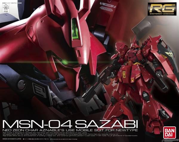 萬代 RG 1/144 #29 MSN-04 沙薩比 逆襲的夏亞 Sazabi 組裝模型 RG,沙薩比,逆襲的夏亞,SAZABI