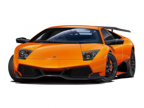AOSHIMA 青島 1/24 超跑 #06 藍寶堅尼 '09 Lamborghini Murcielago SV  可加購細節蝕刻片 組裝模型 AOSHIMA,青島,1/24,超級跑車,藍寶堅尼,'09 Lamborghini Murcielago SV