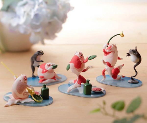 海洋堂 盒玩 miniQ 歌川國芳 金魚的酒席 全4種 一中盒6入販售 KAIYODO 江戶時代浮世繪立體化 海洋堂