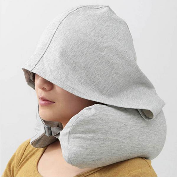 Top4 無印風格連帽U型枕