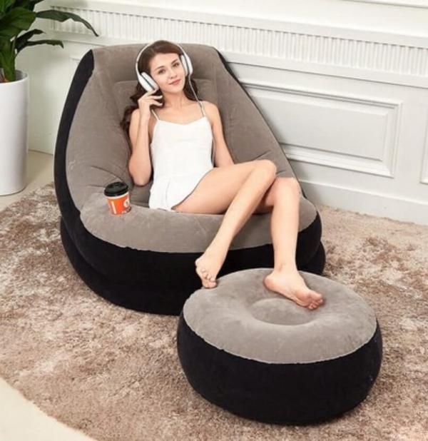 【INTEX】【美國】充氣沙發椅附腳椅|買就送【電動充氣幫浦】 旅行必備,充氣椅,充氣沙發椅,INTEX