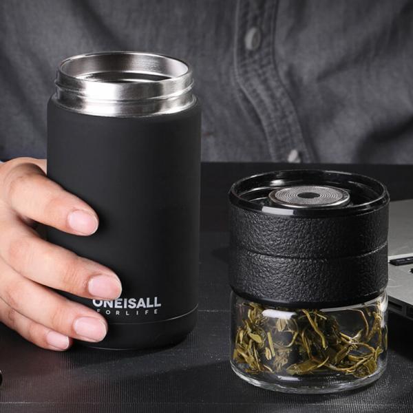 不鏽鋼茶水分離保溫杯 不鏽鋼保溫瓶,隔熱,不漏,茶葉,長效保溫