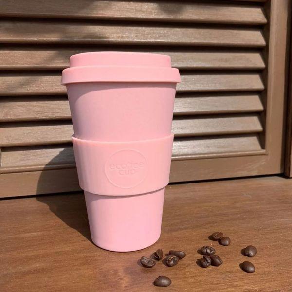 【Ecoffee Cup】環保隨行杯14oz|咖啡隨身杯(霧灰藍/撫子粉/粉嫩綠/杏黃/大理石綠/樹紋棕)