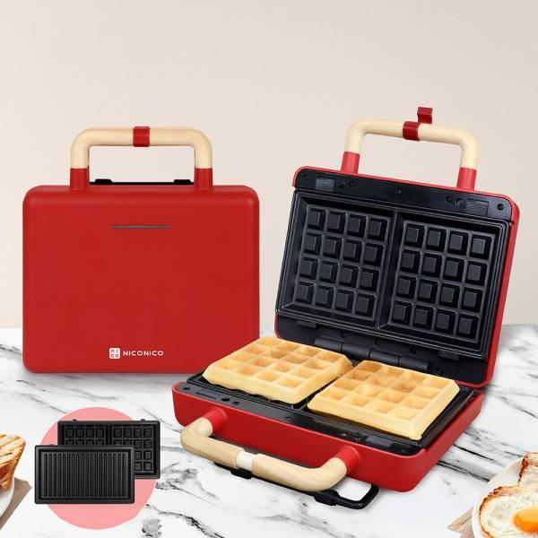 【NICONICO】換片式鬆餅機 (NI-T810)