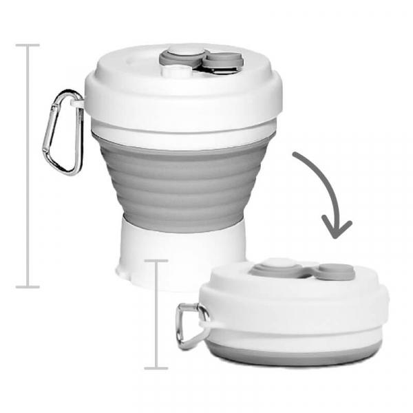 摺疊保溫杯二代|可折疊耐高溫|食品級矽膠材質 摺疊保溫杯,保溫杯,矽膠保溫杯
