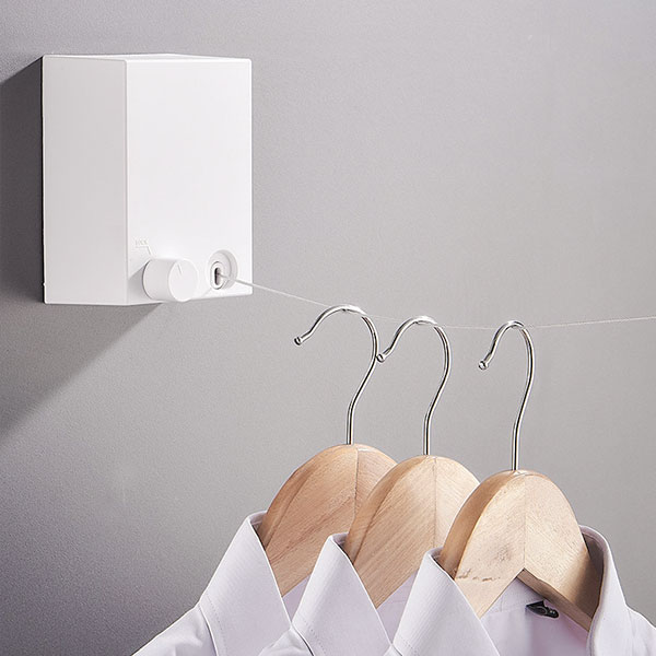 免打孔隱形曬衣繩|伸縮曬衣架(4.2米)