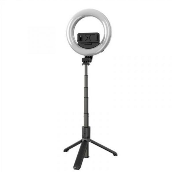 【SELFable 1.5】環形美顏補光自拍桿|藍牙遙控三腳架自拍棒 自拍桿直播腳架