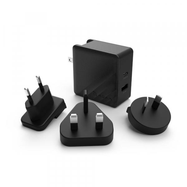 【ADAM】OMNIA P5 旅行萬用 USB-C PD / QC3.0 雙口快速充電器 (57W)