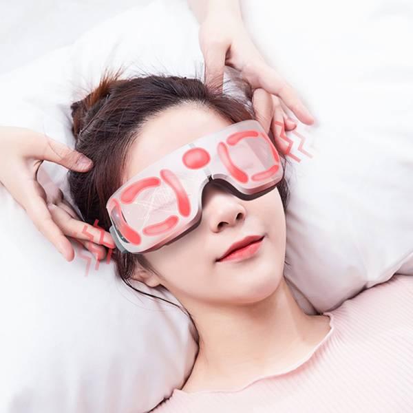 Eye智能熱敷按摩儀(仿真指壓按揉)|充電式無線蒸氣眼罩|護眼神器