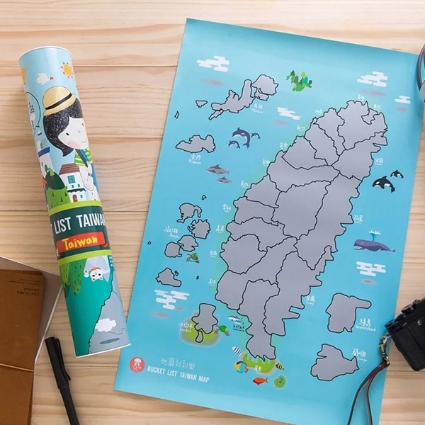 愛禮物刮刮樂台灣地圖 台灣,地圖,刮刮樂地圖