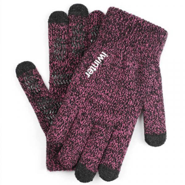 【防滑可觸控】針織加絨保暖手套 手套,觸控手套,保暖