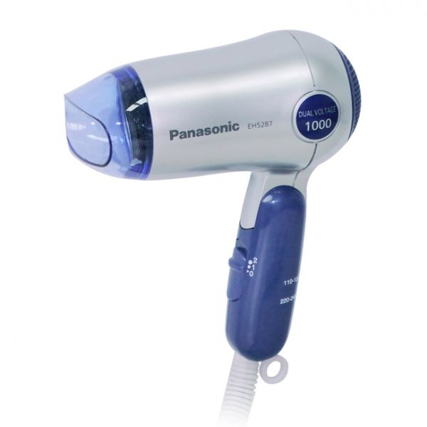 【Panasonic國際牌】旅行摺疊吹風機|雙電壓吹風機(藍)EH-5287