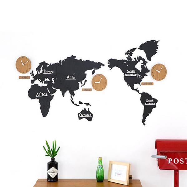 【北歐風格】好旅行桃木世界地圖裝潢掛鐘(大)(130cm) 掛鐘,桃木,桃木掛鐘