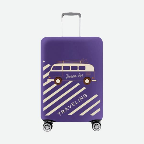 【HowTravel】行李箱保護套-復古巴士款(兩件免運) 行李箱保護套,行李箱套