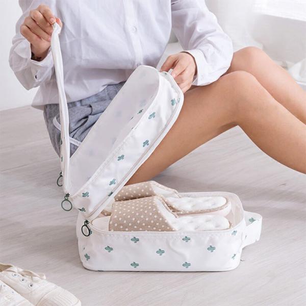 【2019獨家新款】高質感旅行鞋子收納袋(加大加厚) 旅行收納,鞋子收納袋