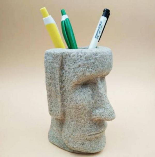 【七折】復活島摩艾石像3D立體石像筆筒 筆筒, 復活節石像 筆筒, 摩艾石像商品, 摩艾石像筆筒, 復活節島摩艾石像筆筒,