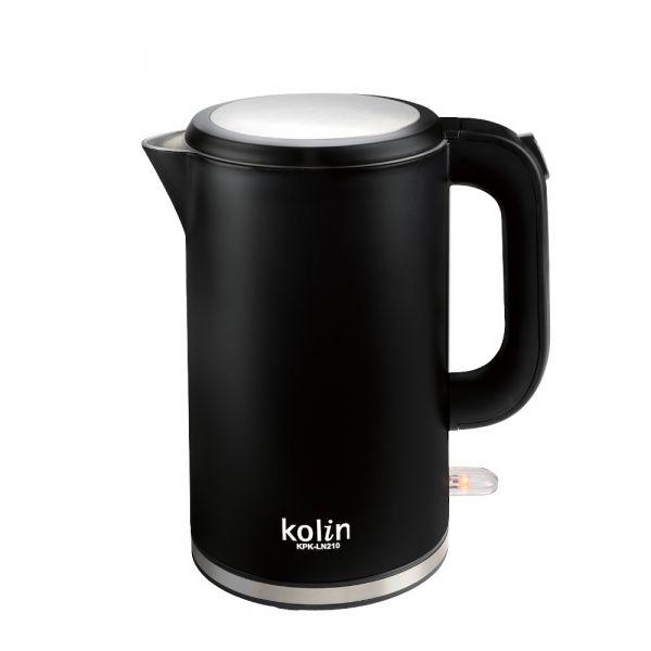 【kolin歌林】316不鏽鋼雙層防燙電熱水壺(KPK-LN210)