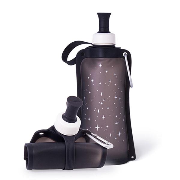 【韓國sillymann】100%時尚便攜捲式鉑金矽膠水瓶-550ml 矽膠水瓶