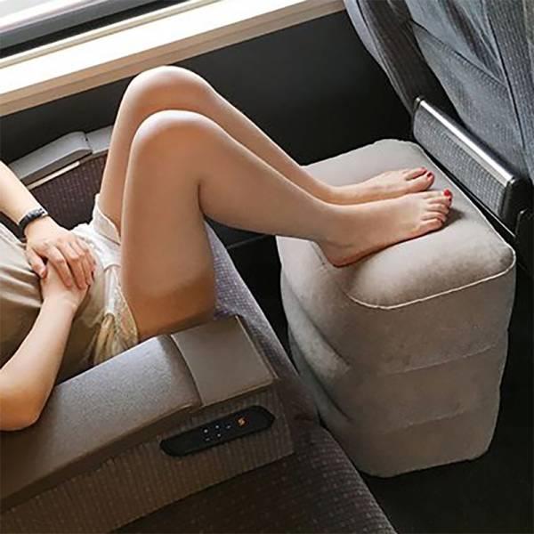【新款】旅行充氣抬腳墊(兩層+三層) 抬腳墊,充氣抬腳墊