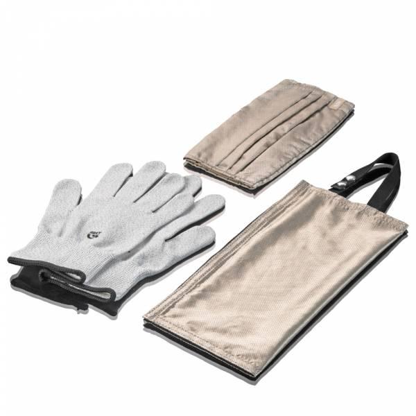 【ARKY】銀纖維抑菌科技防疫三件組-觸控手套+口罩套+萬用收納袋
