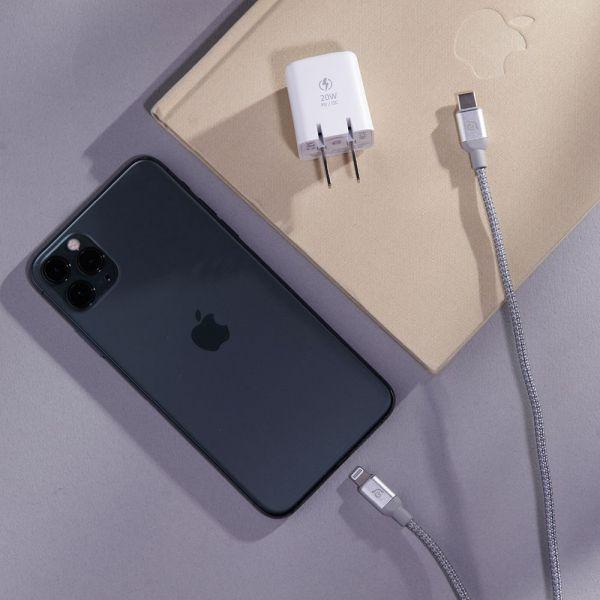【ADAM亞果元素】OMNIA X1 Lightning 20W 快速充電組 iPhone 12專用