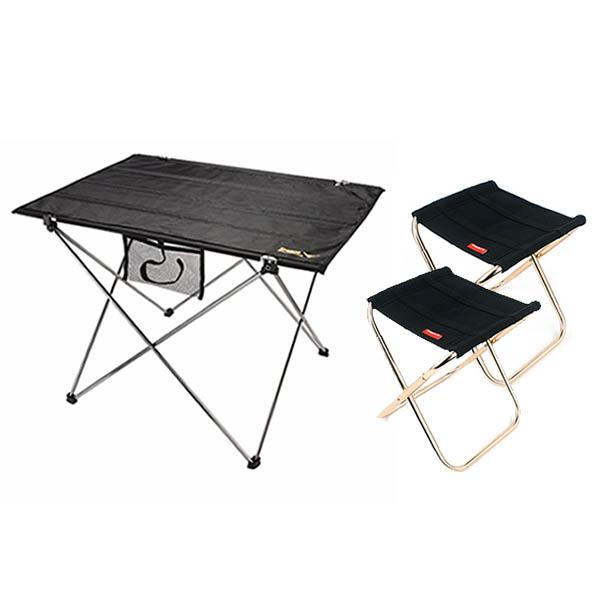 【韓國SELPA】露營超值組合【加大摺疊桌+2入摺疊椅】 露營摺疊桌,折疊椅,韓國SELPA