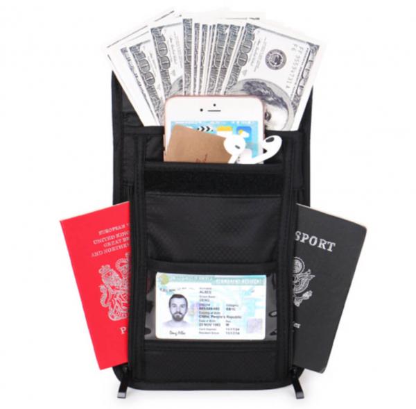 隱藏式貼身防搶包 RFID防盜勾繩 出國防竊隱形貼身 防扒防偷護照證件錢包 旅行背包 防搶包,防盜包,防偷,隱形,貼身,夾層,RFID,證件包