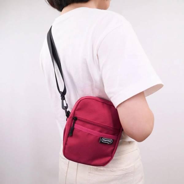【murmur】輕量旅行兩用mini包(黃藍/酒紅/軍綠/黑)斜背包/旅行背包