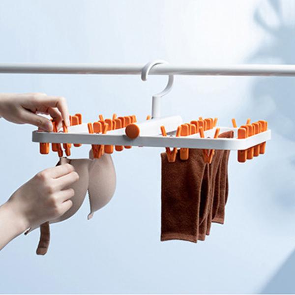 【無印風】防纏繞可折疊晾衣架