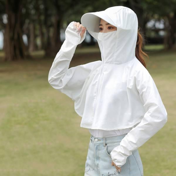 冰絲涼感護頸防曬披肩外套(團購免運優惠中) 涼感外套 防曬外套