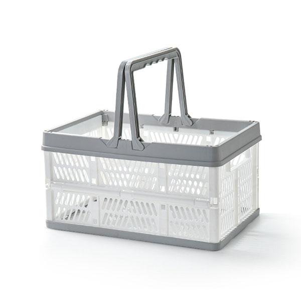 手提折疊置物籃|拚色摺疊收納籃 水果零食收納箱 廚房收納籃 居家收納箱 購物籃