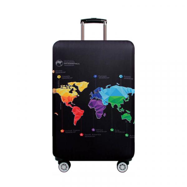 【HowTravel】行李箱保護套-環遊世界款(兩件免運) 行李箱套,行李箱保護套,行李箱防塵套,行李箱套