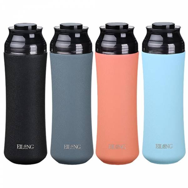 【Eilong 宜龍】輕瓷保溫瓶400ml| 隨行杯 保溫瓶 曲線保溫杯 保溫折疊杯