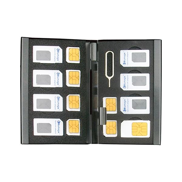 亞馬遜sim卡收納盒|萬用SIM卡收納盒||雙層超薄型Slim 旅行收納,SIM卡收納盒