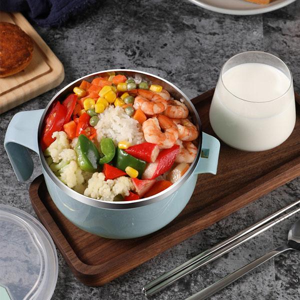 304不銹鋼泡麵碗 保溫碗 隔熱碗 便當盒