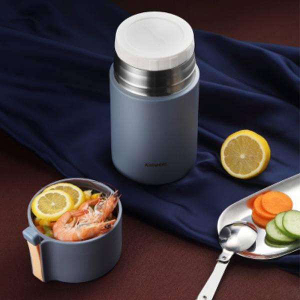悶燒罐|燜燒杯|悶燒食物罐(灰/藍 550ML)
