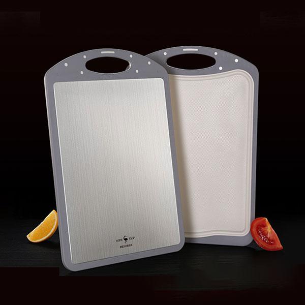 304不鏽鋼雙面抗菌砧板(防霉/防溢引水槽)