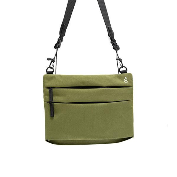 【GOURD 葫】不只方袋也有擴增小包(軍綠/墨黑/亞麻白/藏青藍)斜背包/旅行背包