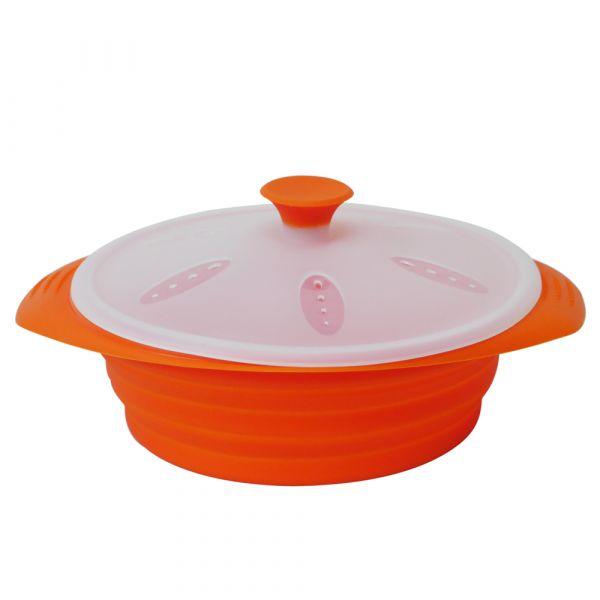 【Rolicon樂立康】矽膠摺疊蒸鍋|矽膠蒸碗