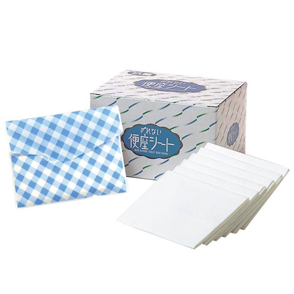 【日本製造】不會滑動馬桶坐墊紙(抗菌加工+送環保袋)70枚/盒|日本製可拋棄黏貼式馬桶紙坐墊|團購優惠中 馬桶坐墊紙