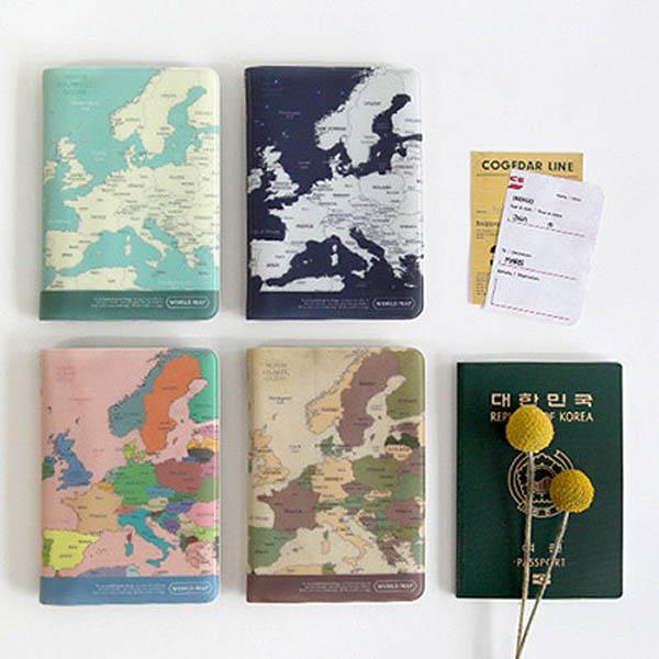 【限量】韓版世界地圖護照套|證件收納包 旅行收納,護照套,收納包