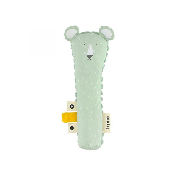 動物造型啾啾棒-可愛北極熊 比利時trixie,動物啾啾棒,嬰幼兒玩具,五感玩具,安撫玩具,可水洗
