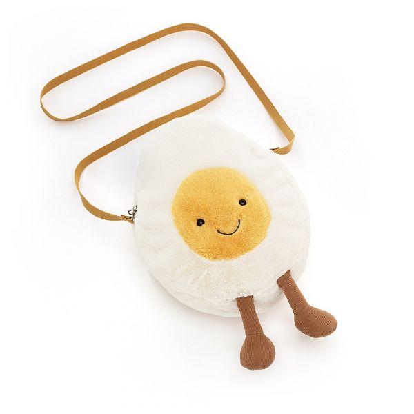 Amuseable Happy Boiled Egg Bag 趣味水煮蛋斜背包 jellycat,Amuseable系列,水煮蛋,造型斜背包,送禮推薦