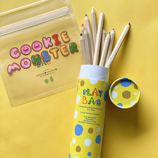 Cookie Monster 魔鬼氈抗菌環保袋(小型/10入)